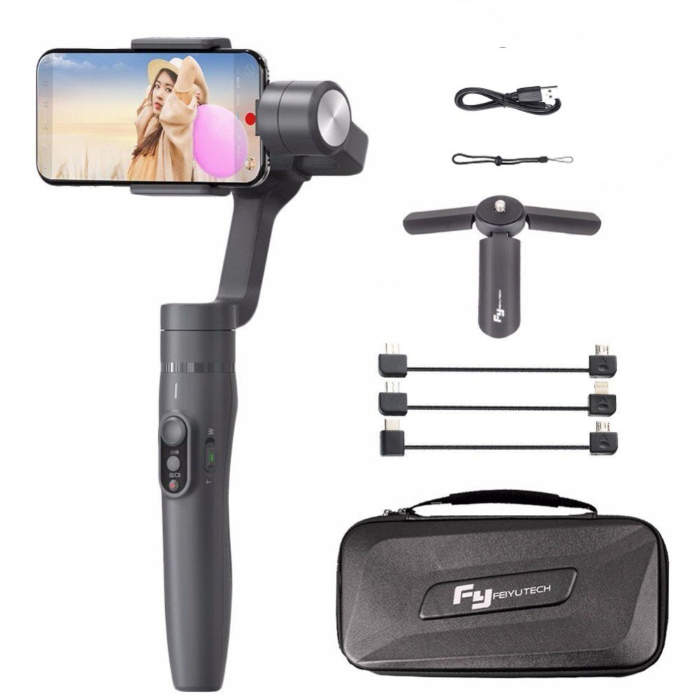 Feiyu Vimble 2 Selfie Bâton Voyage Cardan Poche Stabilisateur pour iPhone X 8 Plus 7 6 Samsung S9 + S9 s8 + S8 vs Zhiyun Lisse Q