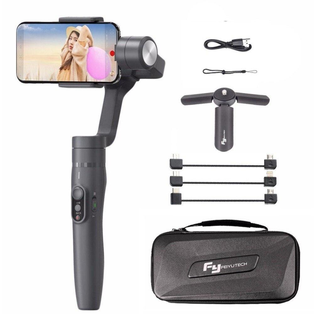 Feiyu Vimble 2 Selfie Stick путешествия Gimbal Ручной Стабилизатор для iPhone X 8 плюс 7 6 samsung S9 + S9 S8 + S8 vs Zhiyun гладкой 4
