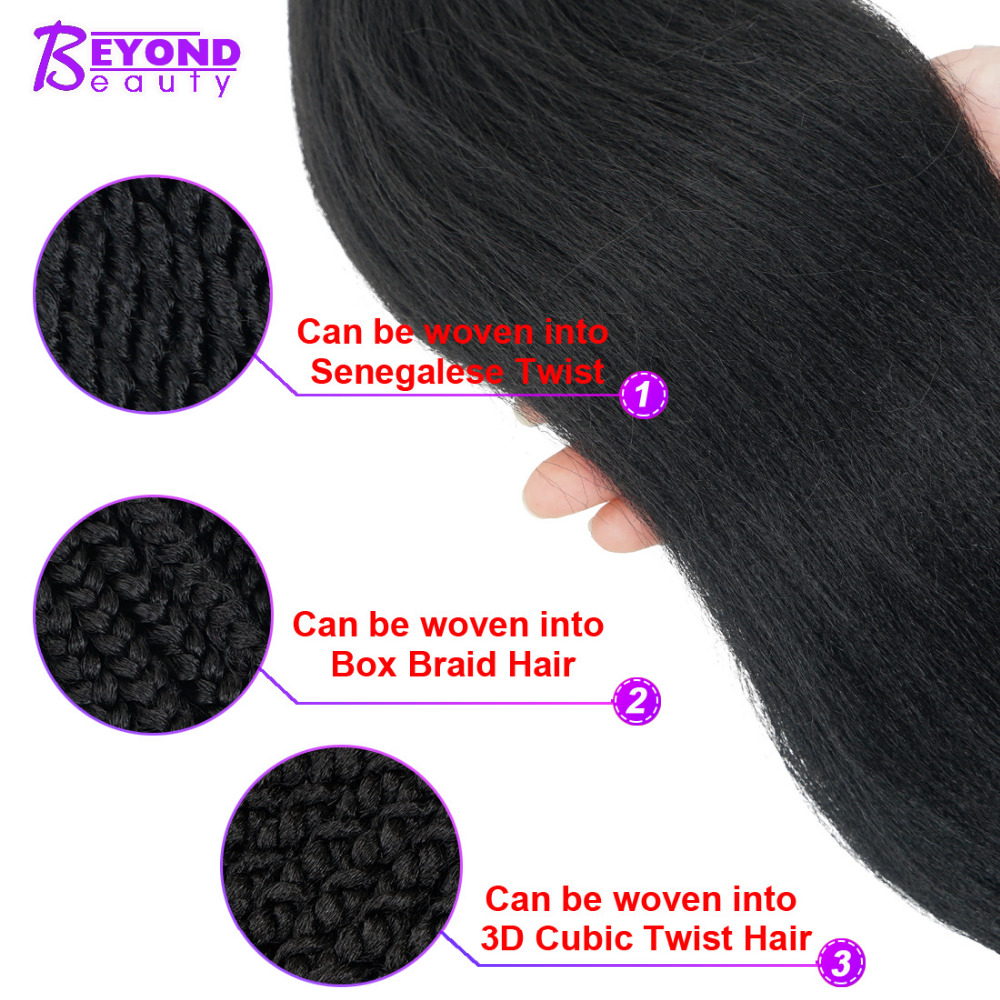 Professional Pre-stretched 100% Kanekalon Ez Braid Beyond Beauty Perm Yaki Texture Itch Free Low Temperature Fiber Hair Extensions & Wigs Hair Braids
