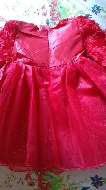 Newborn Baby Girl 1 Year Birthday Dress Petals Tulle Toddler Girl Christening Dress Infant Princess Party Dresses For Girls 2T