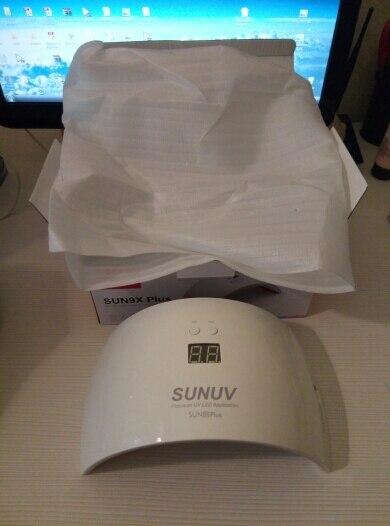 SUNUV SUN9x Плюс 36 Вт Ногтей Пзз, УФ-Лампы Для Ногтей Барабан для UV Гель ПРИВЕЛИ Ногтей Гелем Машина Инфракрасный Датчик Таймер набор