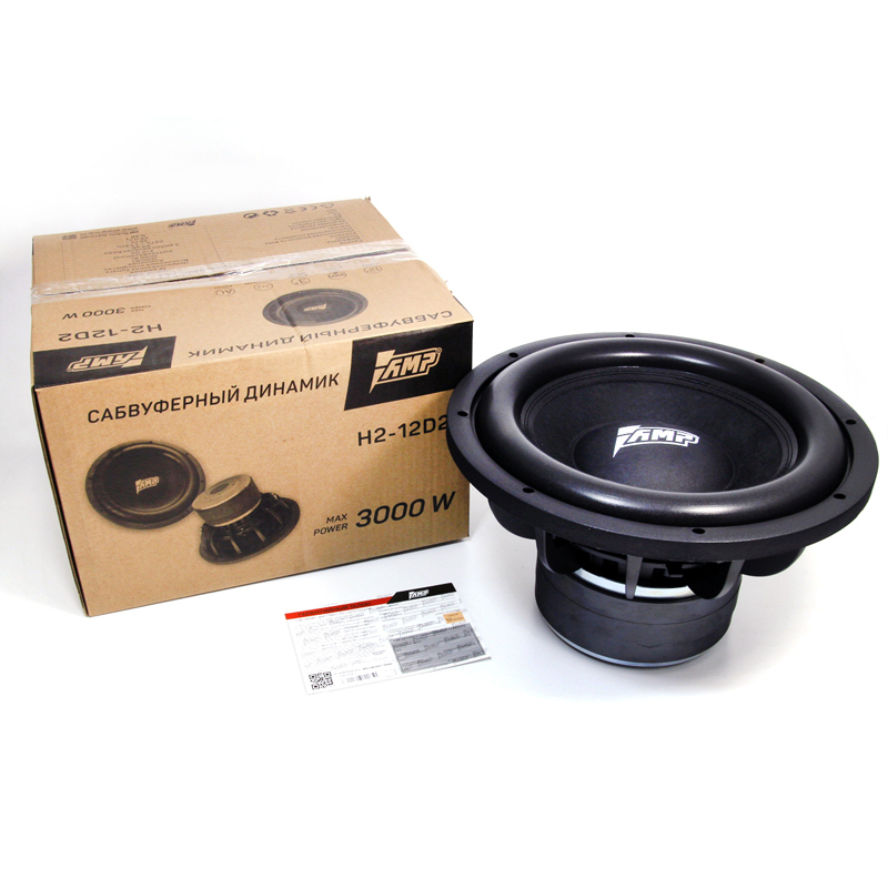 AMP H2 12D2 Universal 12 Inch Car Subwoofer Max 1500W HIFI Strong Bass Auto Audio Sound
