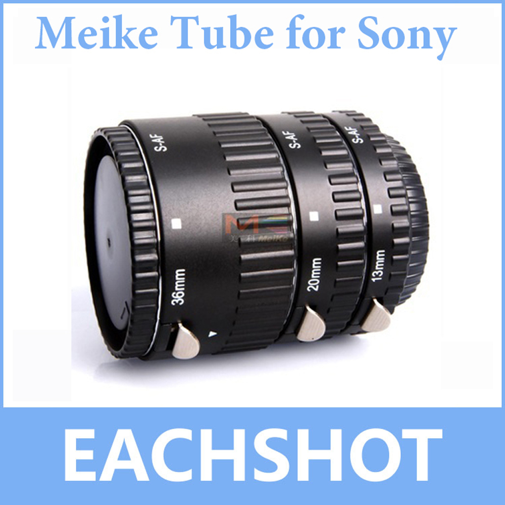 Meike MK-S-AF-A en métal mise au point automatique AF Macro Extension Tube ensemble pour Sony caméra Alpha A58 A65 A57 A77 A900 A55 A35 A700 A300 A100