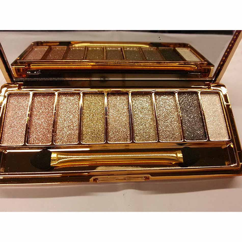 Fashion eyeshadow palette 9 colors matte eyeshadow  palette glitter eye shadow makeup nude makeup set Cosmetics * 1