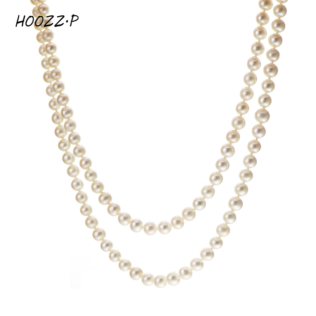 d721c94a362c0 US $219.0 |HOOZZ.P Handpicked AA Quality White Freshwater Cultured Pearl  Rope Necklace 48