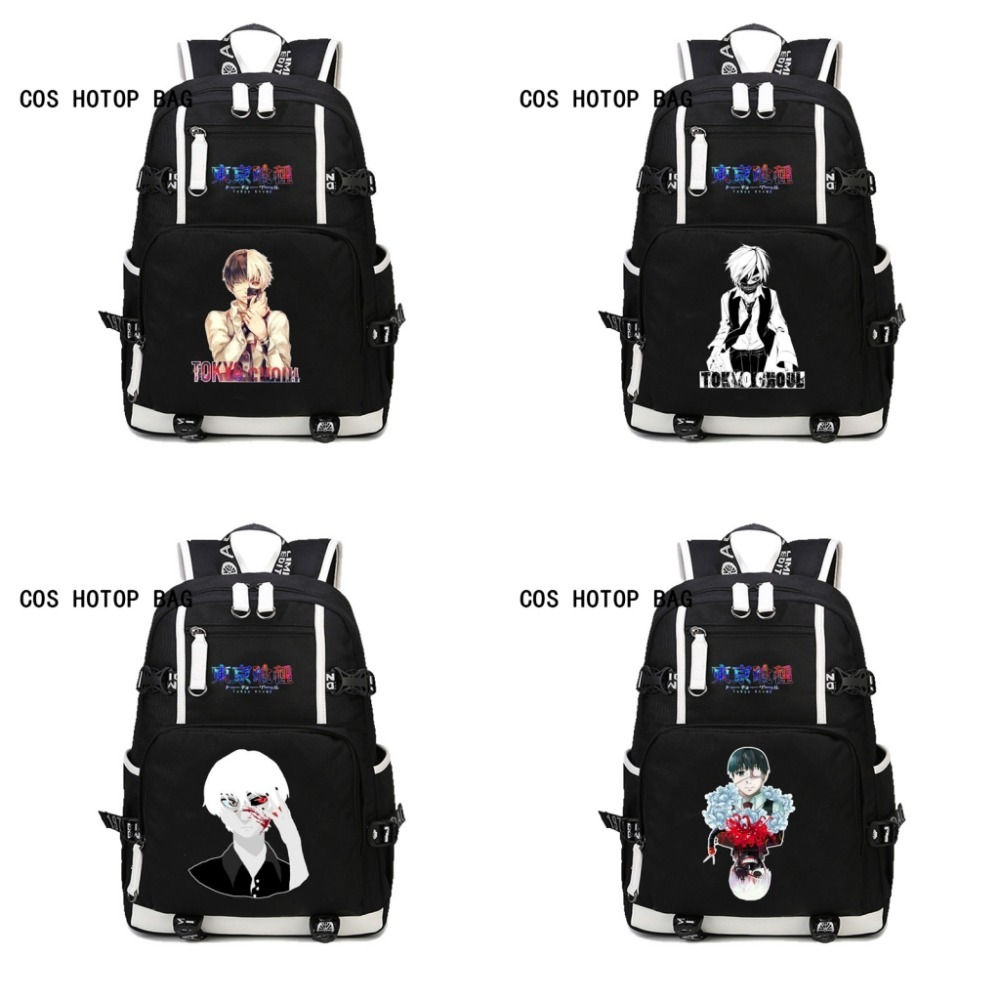 Anime Tokyo Ghoul backpack Kaneki Ken Printing Backpack Canvas student School Bags Laptop Backpack Printing Rucksack 14 style 2017 anime cartoon tokyo ghoul bag kaneki ken school bags travel durable teenager school tokyo ghoul cosplay backpack
