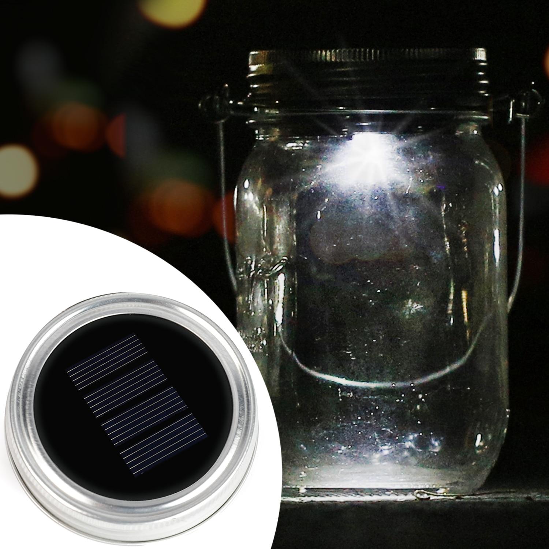 Kohree 3Packs Solar Mason Jar Lid, LED Lights For Glass Mason Jars Garden Wedding Christmas Party DIY Decor, White