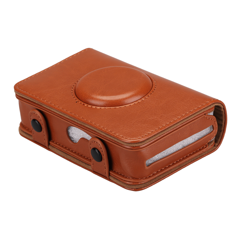 Sunyoy Vintage Rosa Brown PU LEATHER Case Bag para Câmera Digital de ... 26e3e32b17