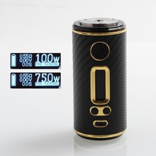 Authentic ShenRay GEO 75W TC VW 18650 / 26650 Variable Wattage Interchangeable Box Mod - Black + Gold