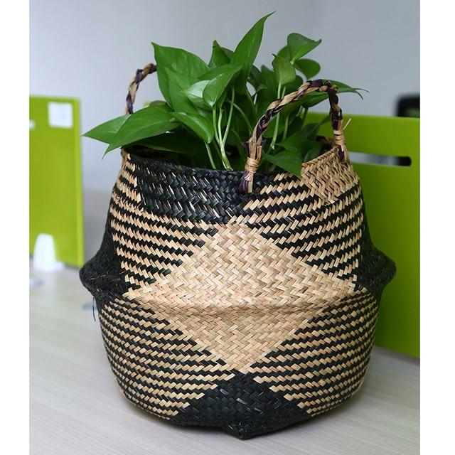 Seagrass Flower Basket