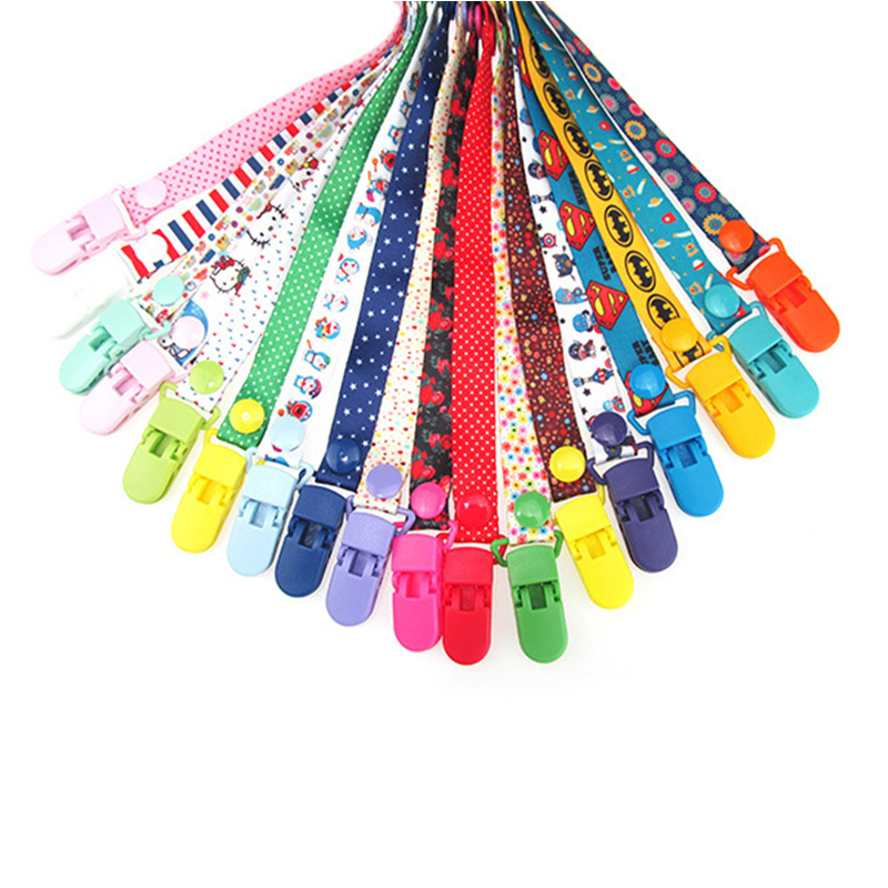 New Baby Pacifier Clip Chain Ribbon Holder Chupetas Soother Pacifier Clips Leash Strap Nipple Holder For Infant Feeding ANJ01