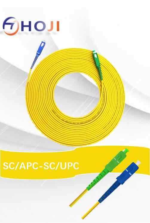 30 メートル、長繊維光パッチコードケーブル sc/APC-SC/UPC コネクタ