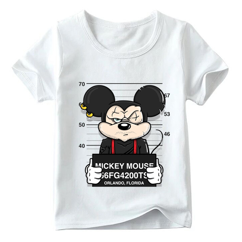Boys and Girls Funny Dog Mouse Duck Cartoon T shirt Baby Comfortable White T-shirt Kids Summer Casual Clothes,HKP2436