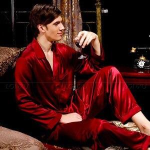 Image 3 - Pijamas de cetim de seda para homem conjunto de pijamas pjs pijamas loungewear s, m, l, xl, 2xl, 3xl, 4xl tamanhos grandes _ se encaixa em todas as estações