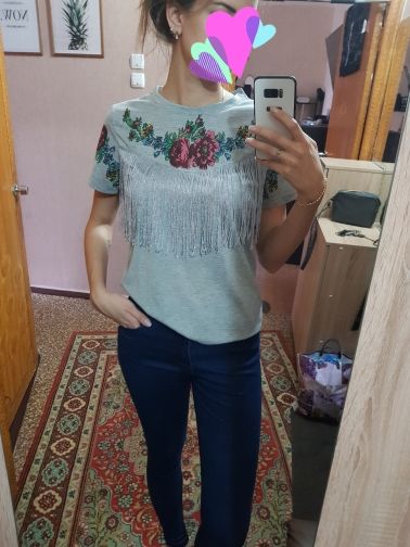 Women tassel floral print T shirt vintage red rose tees O neck short sleeve shirts blusa feminina casual slim brand tops DT42