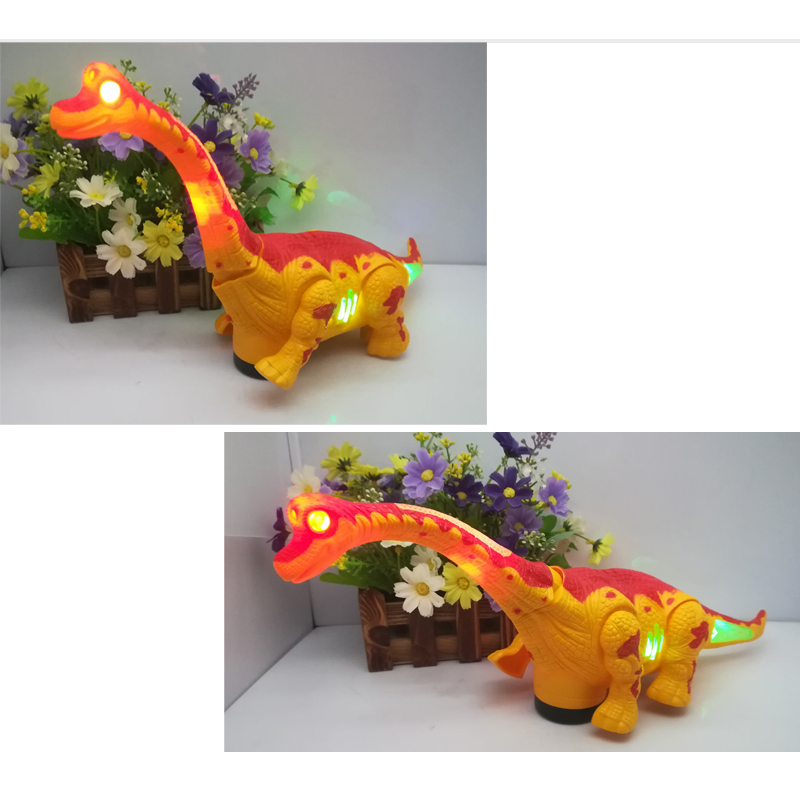Купить с кэшбэком Electric toy large size walking dinosaur robot With Light Sound Brachiosaurus Battery Operated kid Children Boy Gift 1pcs