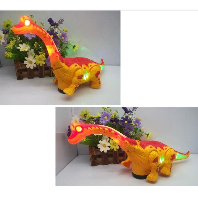 игрушка электрическая ходячий динозавр робот с светильник кой фотография