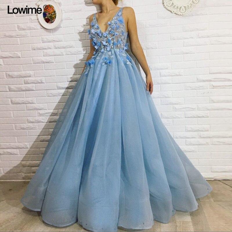 ca4987a218efcfd Vestido de festa Элегантные линии v-образным вырезом Вечерние платья 2018  аппликации цветы без рукавов
