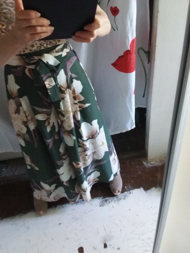 Girl Floral Print Wide Leg Pants Women Long Casual Pant Summer Boho Beach Elastic High Waist Chiffon Trousers photo review