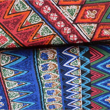 цена на high quality 100% cotton Bohemian style fabric used for dress women clothing table cloths