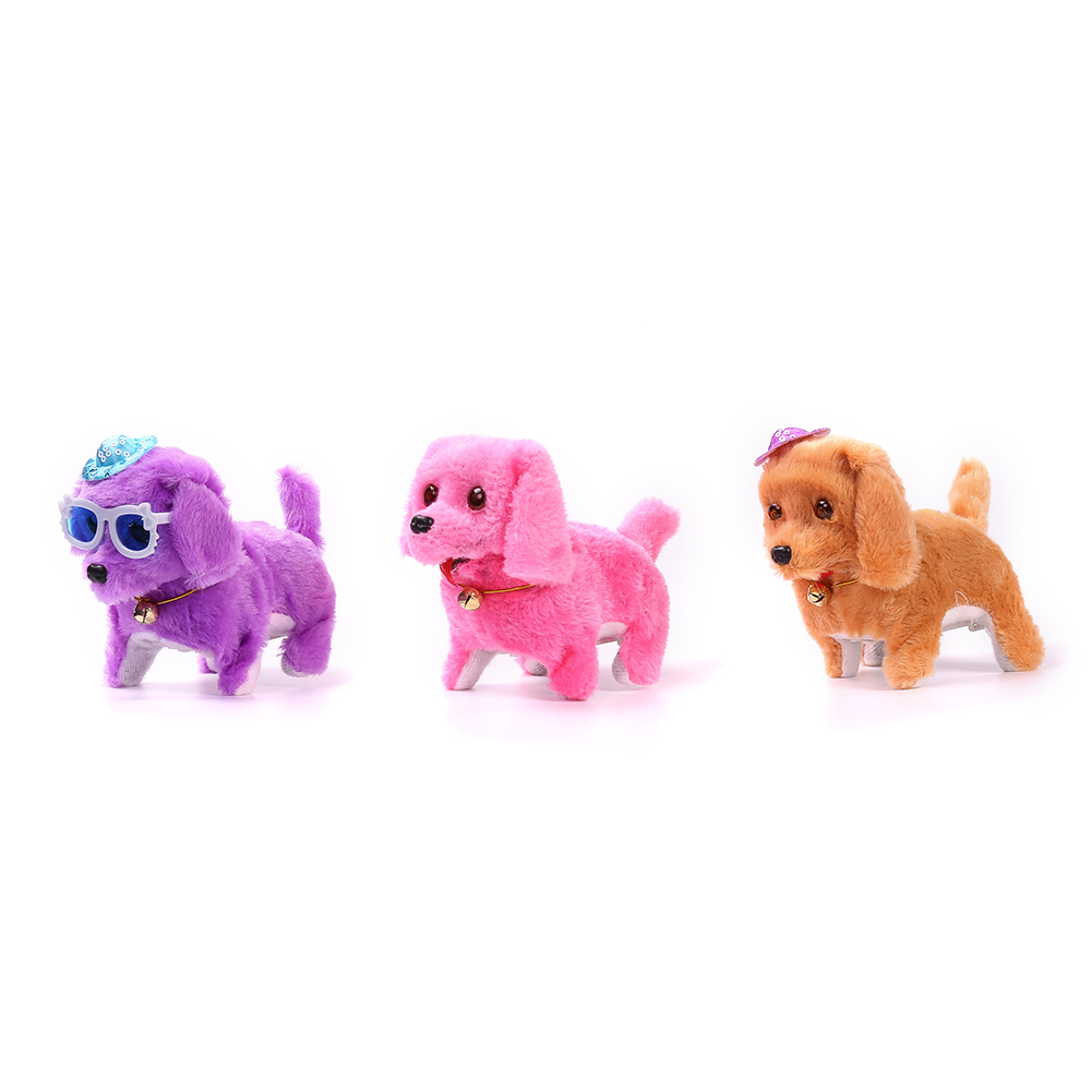 2017 Electric Toy Soft Plush Walking Glowing Barking Dog Funny Simulation Moving Appease Baby Toys For Children