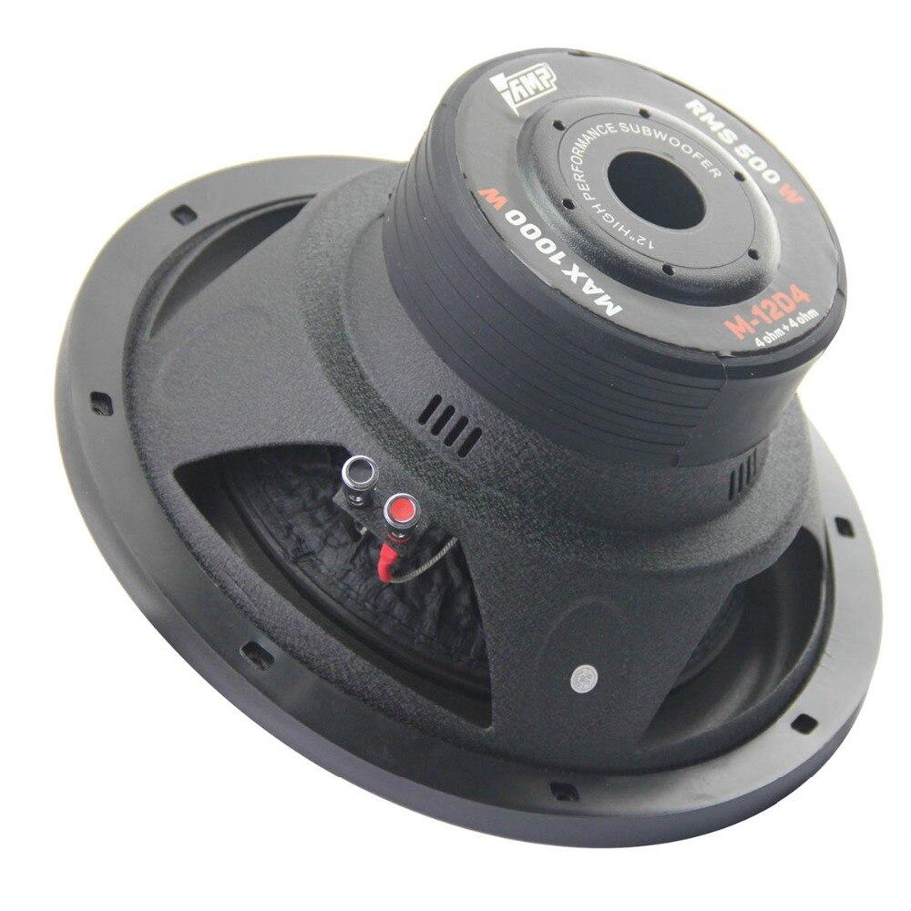AMP M-12D4 uniwersalny 12 Cal Subwoofer samochodowy Max 1000W HIFI silny bas Auto Audio dźwięk domowy głośnik niskotonowy