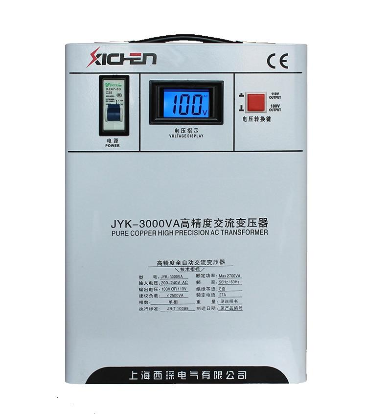3000VA/3KW 220 v à 100 v/110 v mur-monté transformateur/onduleur/convertisseur pour japon-fait/NOUS-fait usage domestique équipements