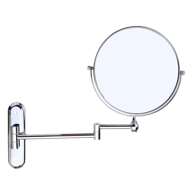 Foldable 10x Magnifying Mirror Extend Double Sided Wall Mounted Makeup Toilet 8 Round Vanity