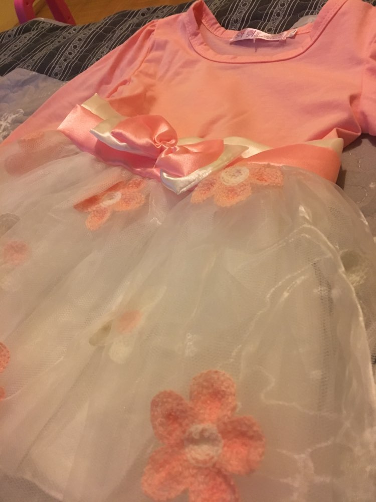 Baby Girl's Long Sleeve Dress with Bow photo review
