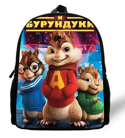 12-inch Children Cartoon Bag Alvin And The Chipmunks Backpack Kids Boys Mochila Escolar Infantil Mini School Bags For Girls