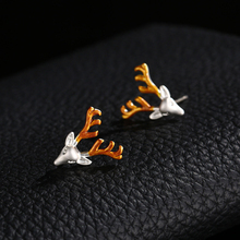 Fashion Deer Stud Earrings Jewelry for Women Gift Charming Luxury Christmas