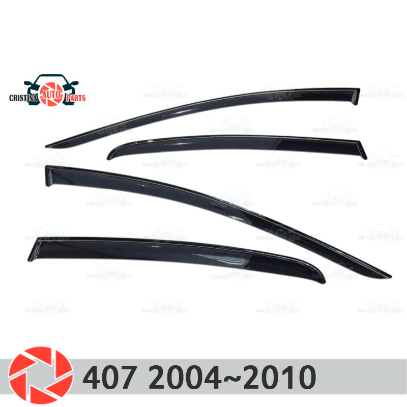 Window deflector for Peugeot 407 2004~2010 rain deflector dirt protection car styling decoration accessories molding window deflector for mitsubisi pajero 2 1990 2004 rain deflector dirt protection car styling decoration accessories molding