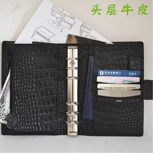 Image 2 - 2018 Yiwi Vintage A6 Persona hakiki deri Travelers Notebook günlüğü planlayıcısı Sketchbook yaratıcı doğum günü
