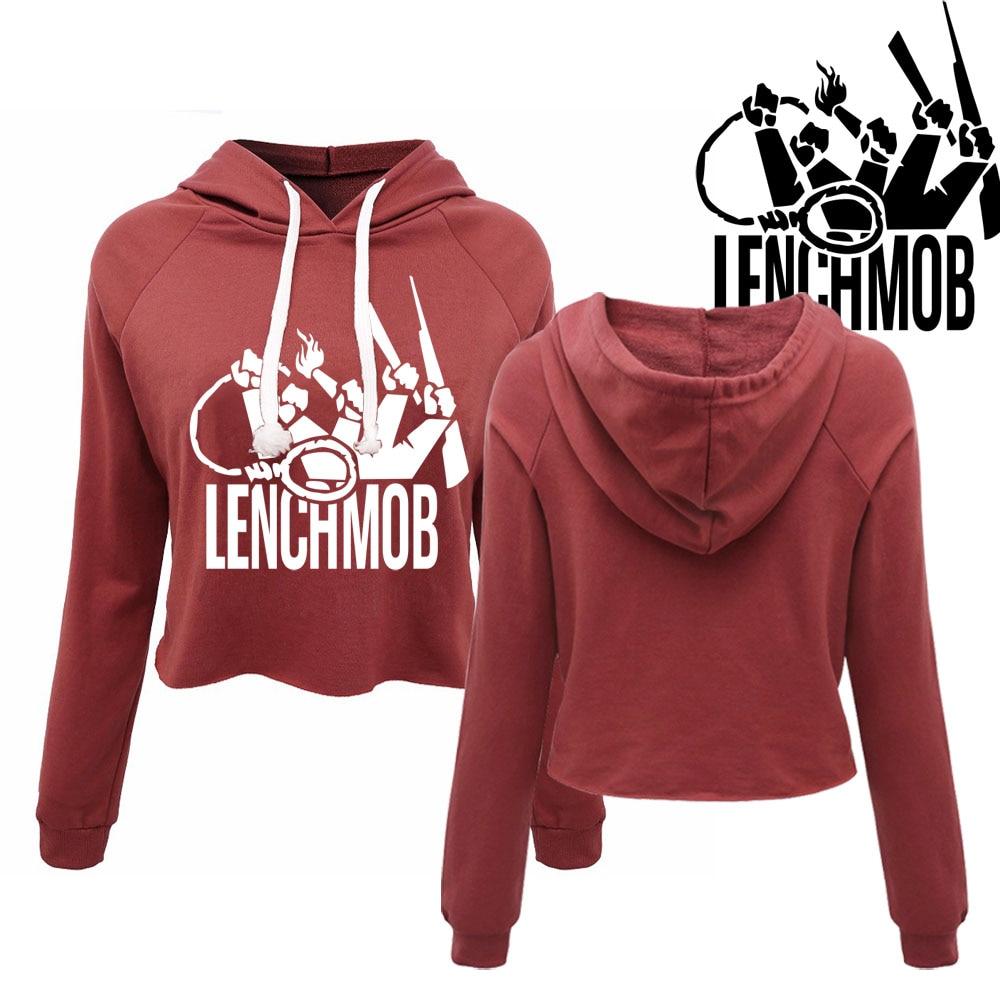 Eiswürfel Lench Mob NWA Westküste frauen cropped hoodies Eazy E Raiders  Avengers harajuku mode Mädchen herbst pullover tops in Eiswürfel Lench Mob  NWA ... 33bb66014f3