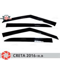 Window deflectors for Hyundai Creta 2016  rain deflector dirt protection car styling decoration accessories molding|Chromium Styling| |  -