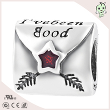 The Letter I've been good Envelope Design For Bracelet Or Necklace Jewelry S925 Sterling Silver Charm(China)