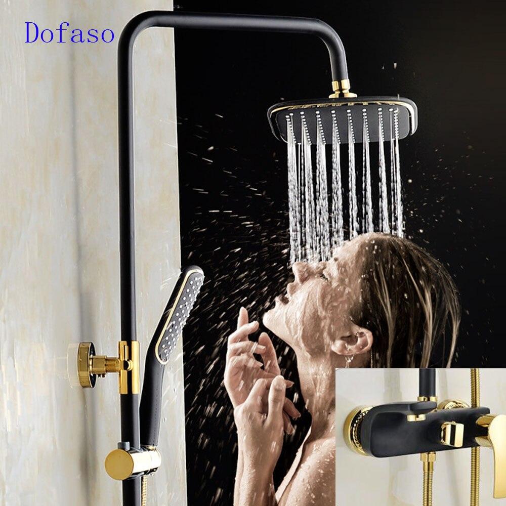 Dofaso a shower bathroom all copper golden and rose antique brass ...