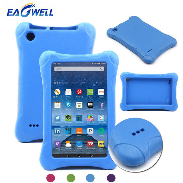 US $9 49 23% OFF|Eagwell Kids Shockproof Case for Amazon Kindle Fire HD 7  2015/2017 Release Children Safe EVA Foam Tablet Protective Case Cover-in