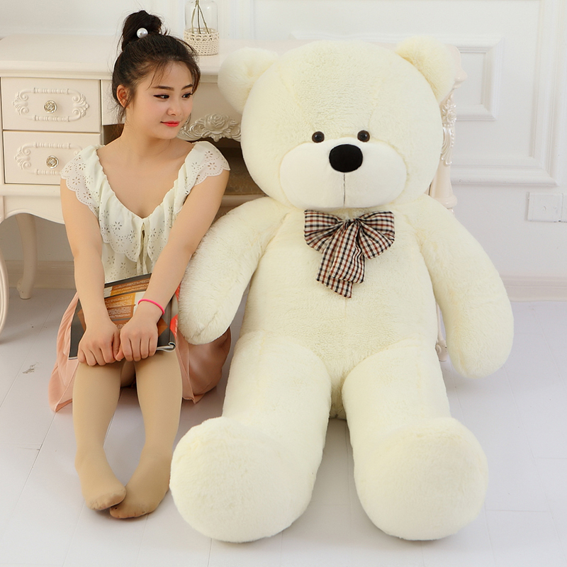 Low Price Giant teddy bear soft toy 160cm huge large big stuffed toys animals plush life size kid baby dolls toy christmas gift fancytrader big giant plush bear 160cm soft cotton stuffed teddy bears toys best gifts for children
