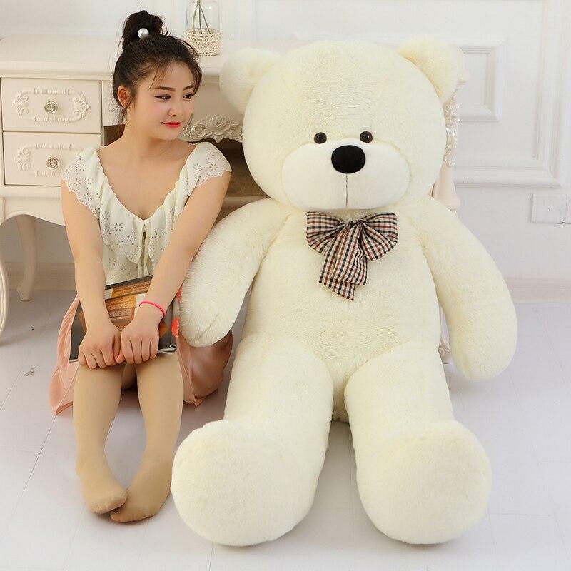 Peluche géante d'ours en peluche de prix bas 160 cm énorme grand gros jouets en peluche animaux en peluche taille réelle enfant bébé poupées jouet cadeau de noël