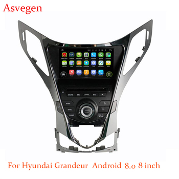 Asvegen 8inch Quad Core Android 8.0 Car DVD Player For HYUNDAI AZERA/Grandeur/Grandeur 2011-2014 Navigation Car Stereo