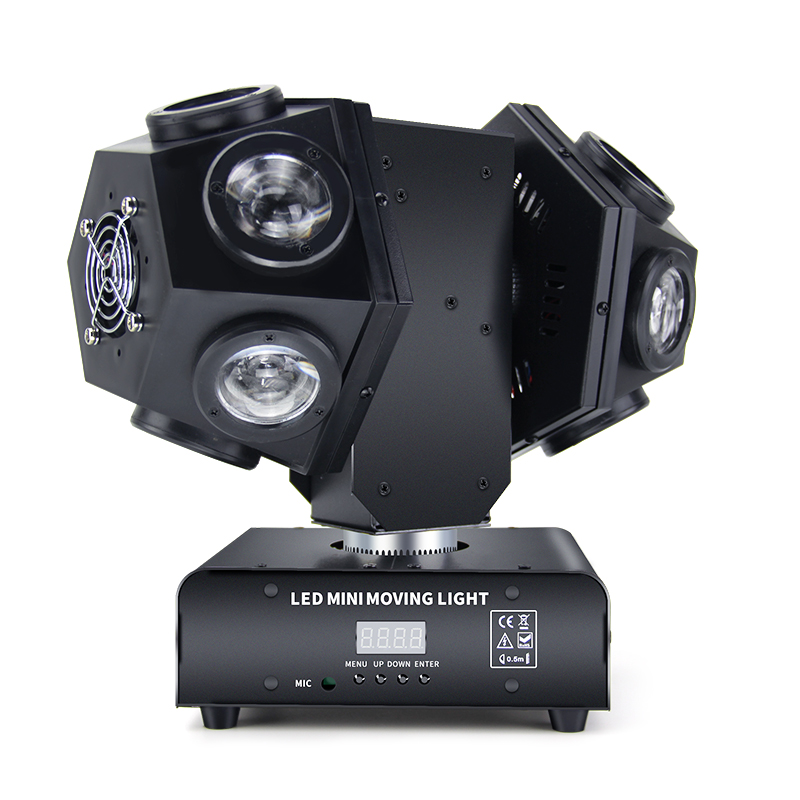 Fast Shipping New LED 12 Double Arm Moving Heads Football RGBW 4 IN 1 Full Color Beam Stage Lamp For Wedding Bar