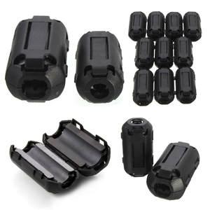 Clip Cable-Wire-Clamp Ferrite-Core NOISE-FILTERS EMI EMC RFI 10pcs Case 3x1.6cm Black