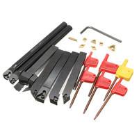 21Pcs Set 12mm Shank Lathe Turning Tool Holder Boring Bar Insert Wrench S12M SCLCR06 SER1212H16 SCL1212H06