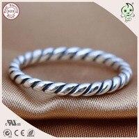 DIY BrandSimple Spiraal Stijl 100% 925 Sterling Zilver Spiraal Cirkel Teen ringen