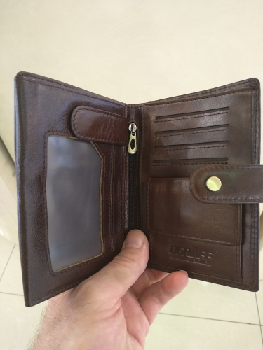 Short Passport Cover Men Wallets Leather Genuine Credit Card Holder Coin Purse Money Bag Small Wallet Passport Case Wale photo review