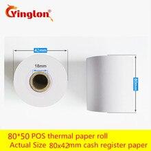 80 50 12Rolls/lot Thermal Printer Cash Register Paper POS Free Shipping Single Natural pure wood Environmental friendly