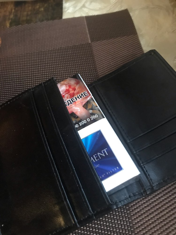 New Arrival Quality Men Business Card Wallets Fashion Patent Leather Black Brown Color 2 Fold Credit Card Holder photo review