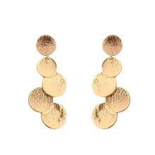 купить Stud earrings long alloy earrings geometric eight eardrop euramerican fashion ladies earrings дешево