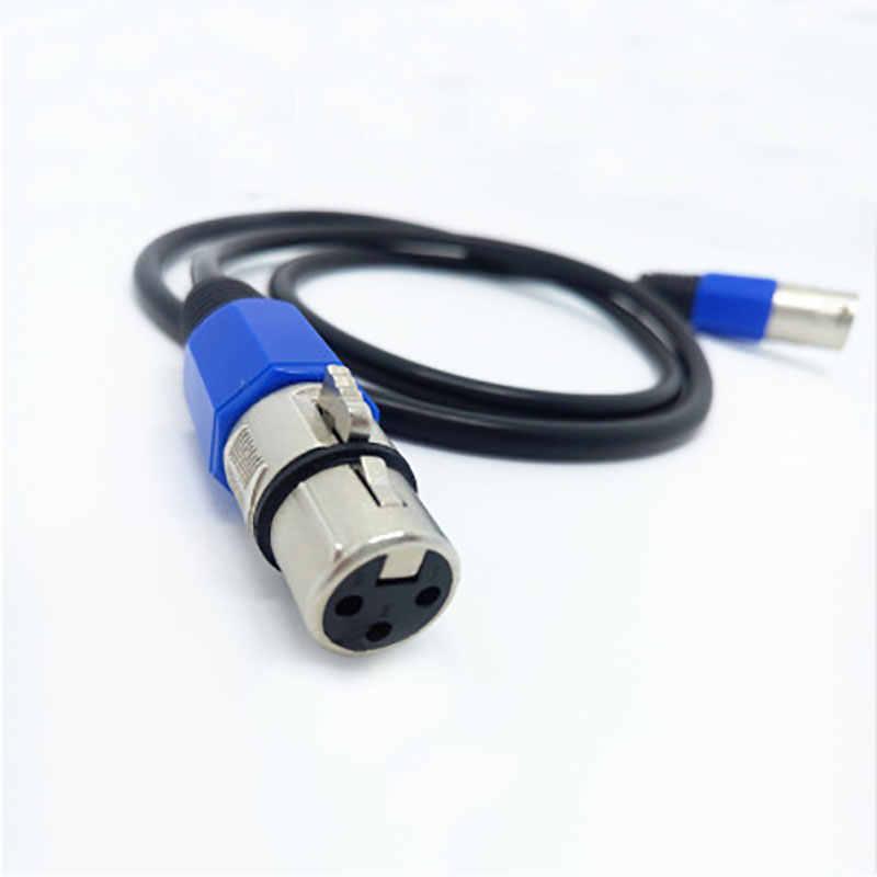 Dyue 3-PIN DMX сигнальная линия 1 M-5 M, 6 M, 7 M, 8 M, 9 M, 10 M, 15 M, 20 м светодиодный прожектор dmx кабель dj оборудование 100% Новинка